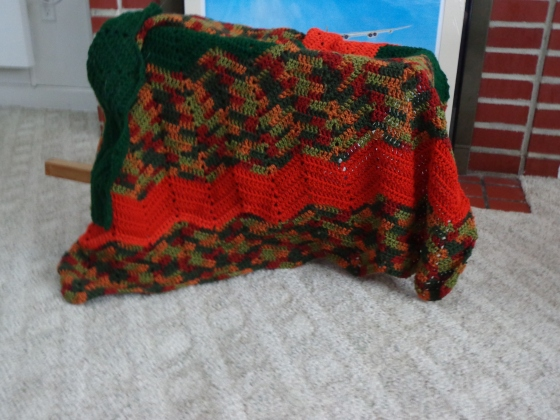 Project Linus Blanket #8 Dec 2017 - Autmn in the Pumpkin Patch