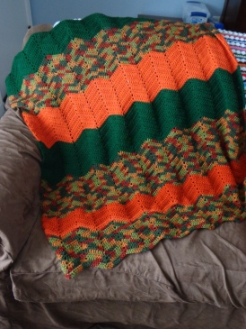 Project Linus Blanket #8 Dec 2017 - Autumn in the Pumpkin Patch