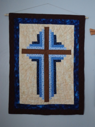 Cross Quilt Hanging 12-25-17