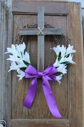 Cross on wreath