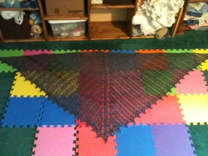 Blocking the Atlanta Shawl