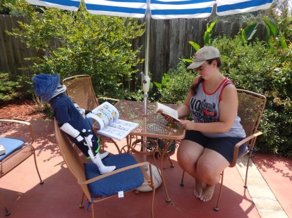 Gary Reading by the Pool