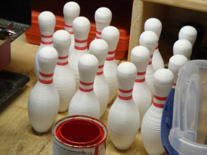 3D Printed Bowling Pins