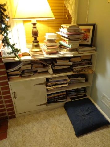 Livingroom Shelf Mess