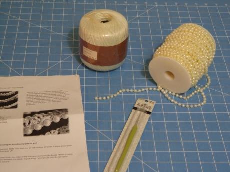 crocheted garland supplies