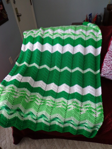 project linus blanket #16 1-12-19 - it's not easy being green