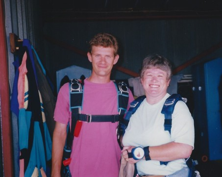 Jay and Karen Skydiving