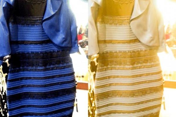 Blue-Black or White-Gold Dress