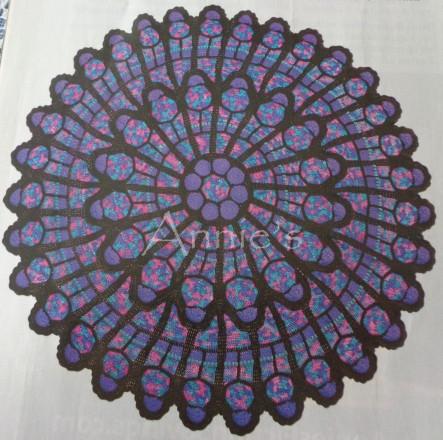 Rose Cathedral Window Afghan-edit