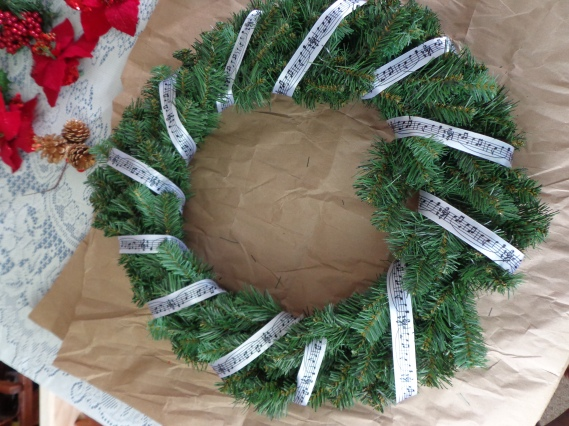 Wrapped Christmas Wreath 7-6-19