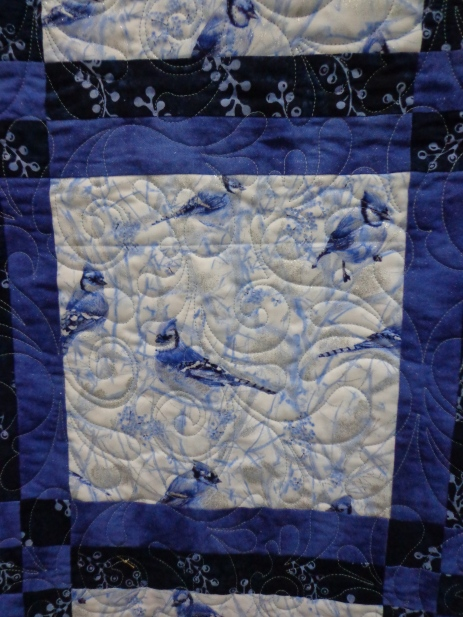 2019 Quilt Show Blue Jay Square