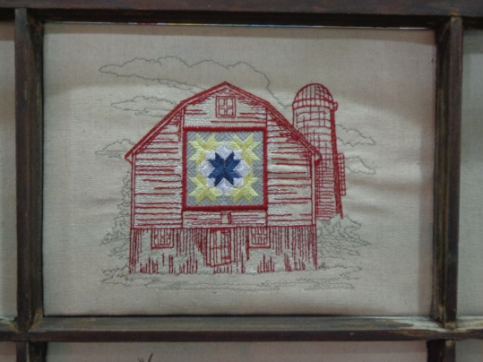 2019 Quilt Show Embroidered Barn