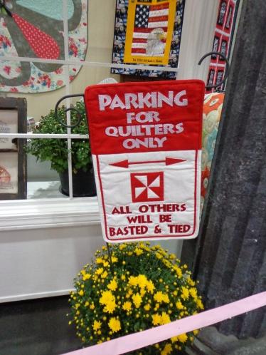 2019 Quilt Show Parking Sign