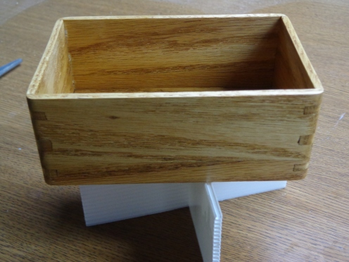 Pew Wood Box Stained 10-2-19