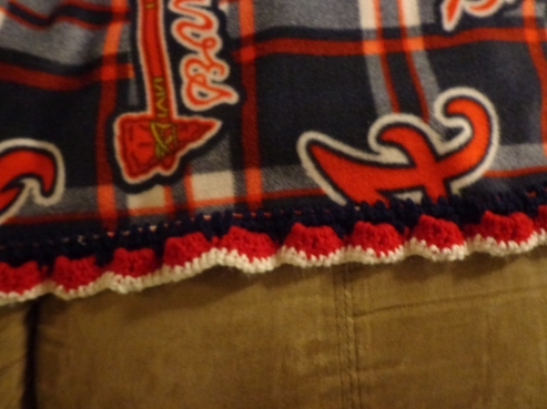 Braves Fleece Blanket Border 2019