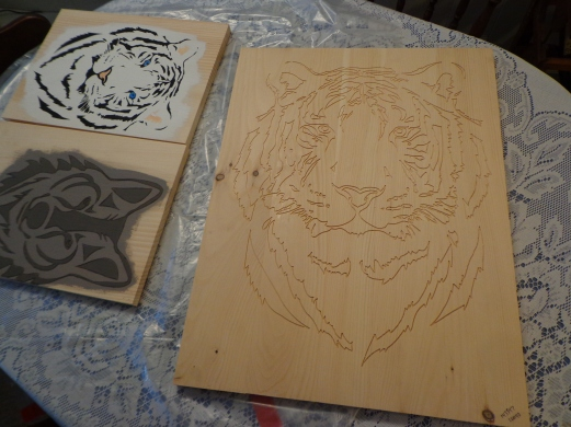 Tiger Full Size Carving
