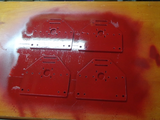 CNC Router Painted Corners 2-2-20