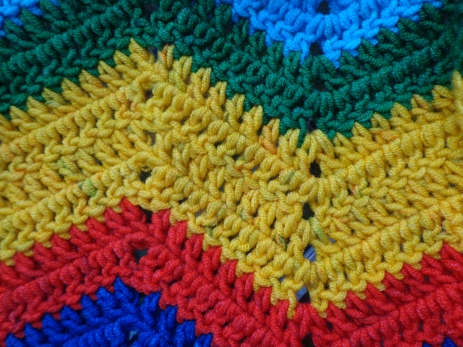 Project Linus Blanket #29 Dye Marks