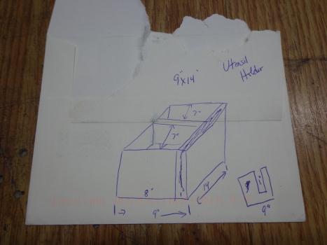 Utensil Holder Drawing