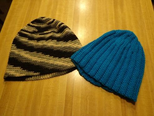 Crochet Hat #2 & #1