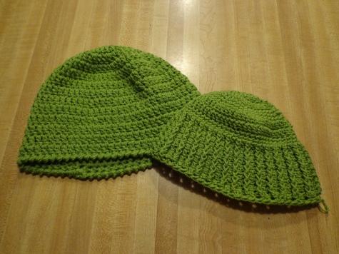 Crocheted Hats #4 & #3