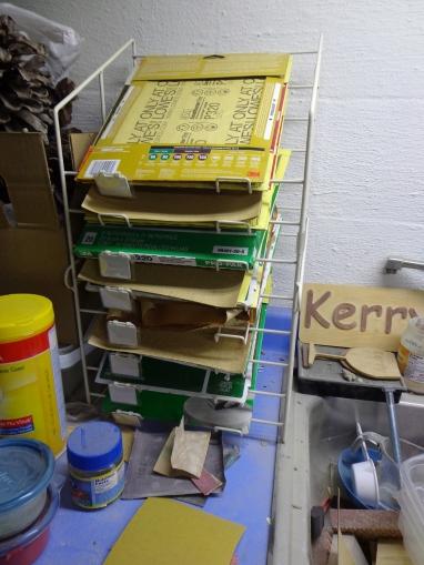 Kerry's Sandpaper Rack