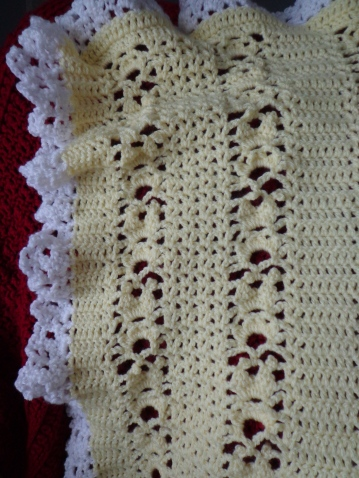 Yellow Lacy Blanket Detail