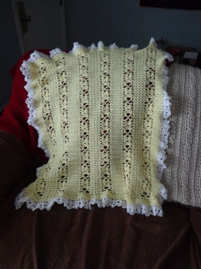 Yellow Lacy Blanket