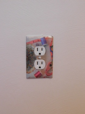 Sewing Room Finished Outlet Cover