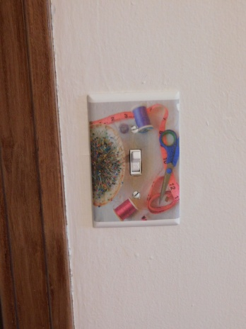 Sewing Room Finished Switch Plate