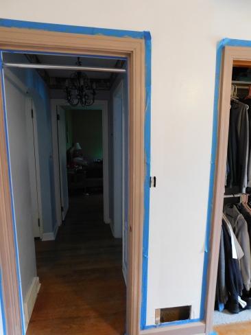 Sewing Room Painted Trim 4-5-20