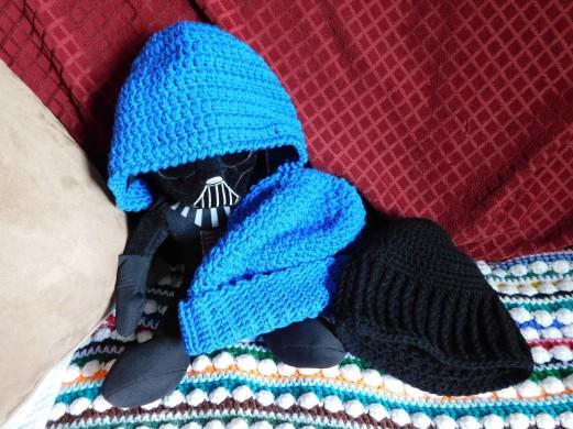 Crocheted Hats #10-12 Modeled