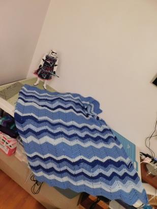 Project Linus Blanket #32 4-17-20 - A Yarny Tale