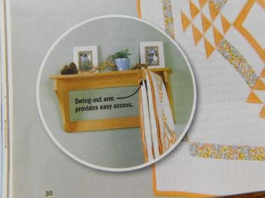Wood Magazine Swingin' Quilt Display Detail