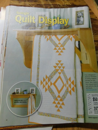 Wood Magazine - Swingin' Quilt Display