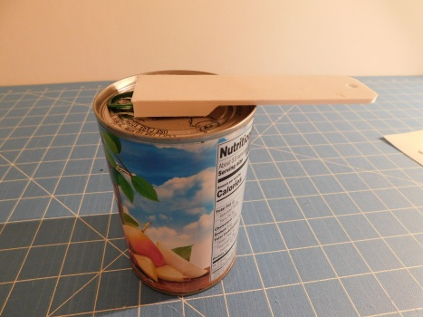 3D Printed Can Tab Lifter in Use