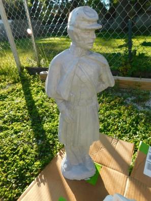 Concrete Statue CSA Soldier Front 2020