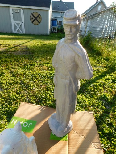 Concrete Statue CSA Soldier Side 2020