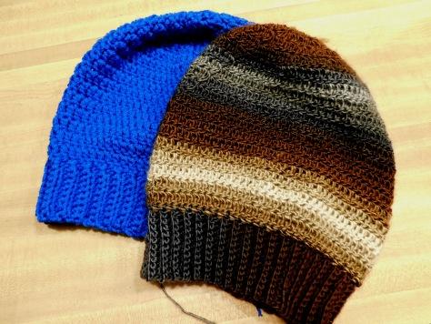 Crocheted Hats #16 & 17