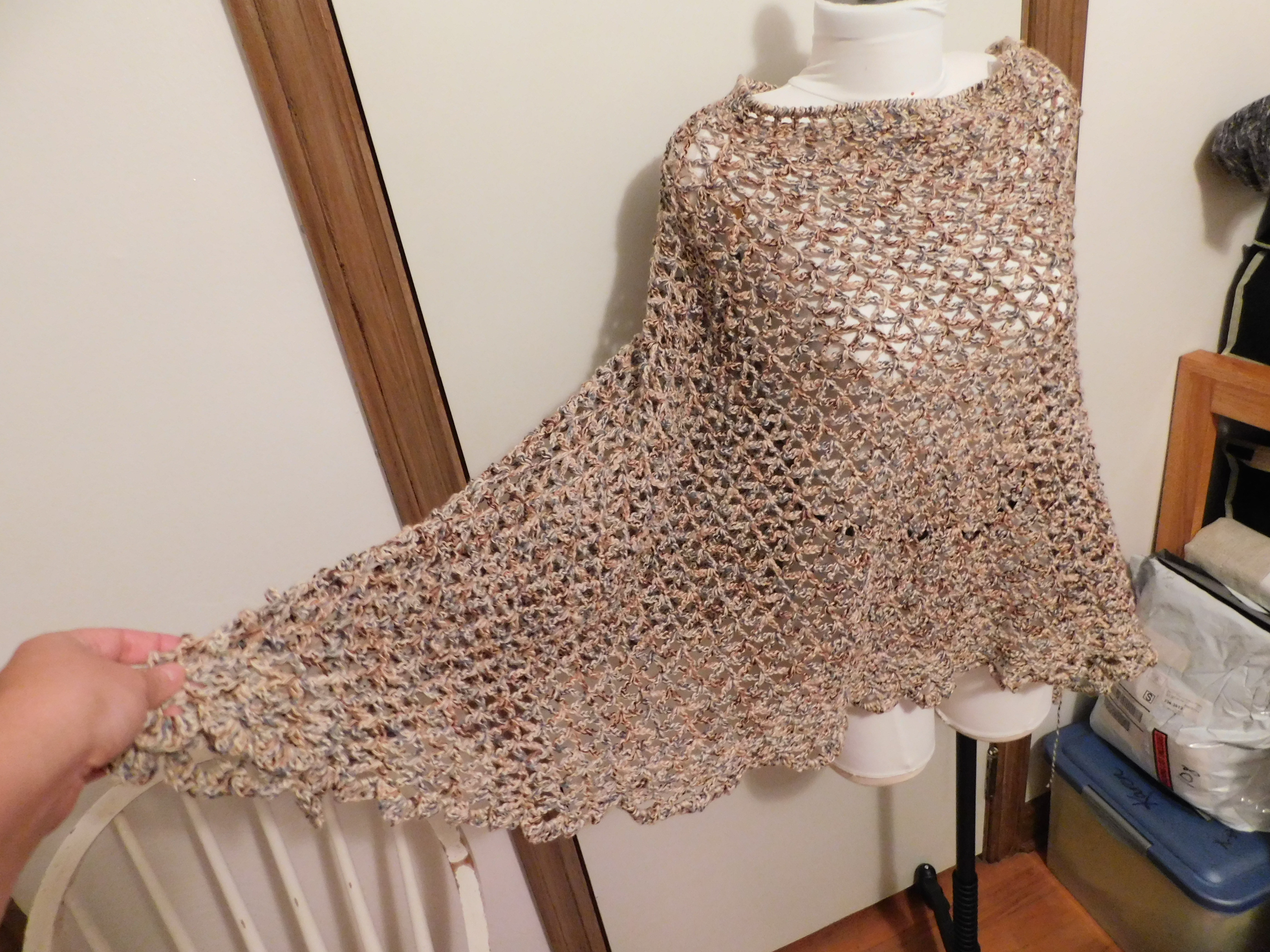 Crocheted Poncho 2 2020
