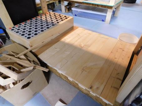 Finishing Bench Shelf