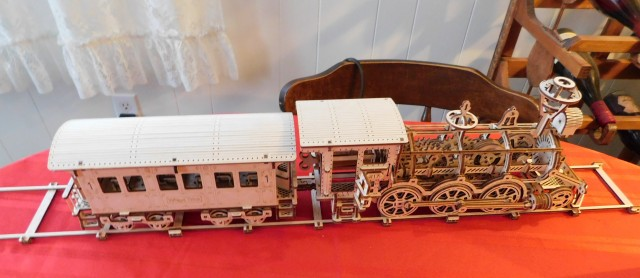 Wooden Train and Car
