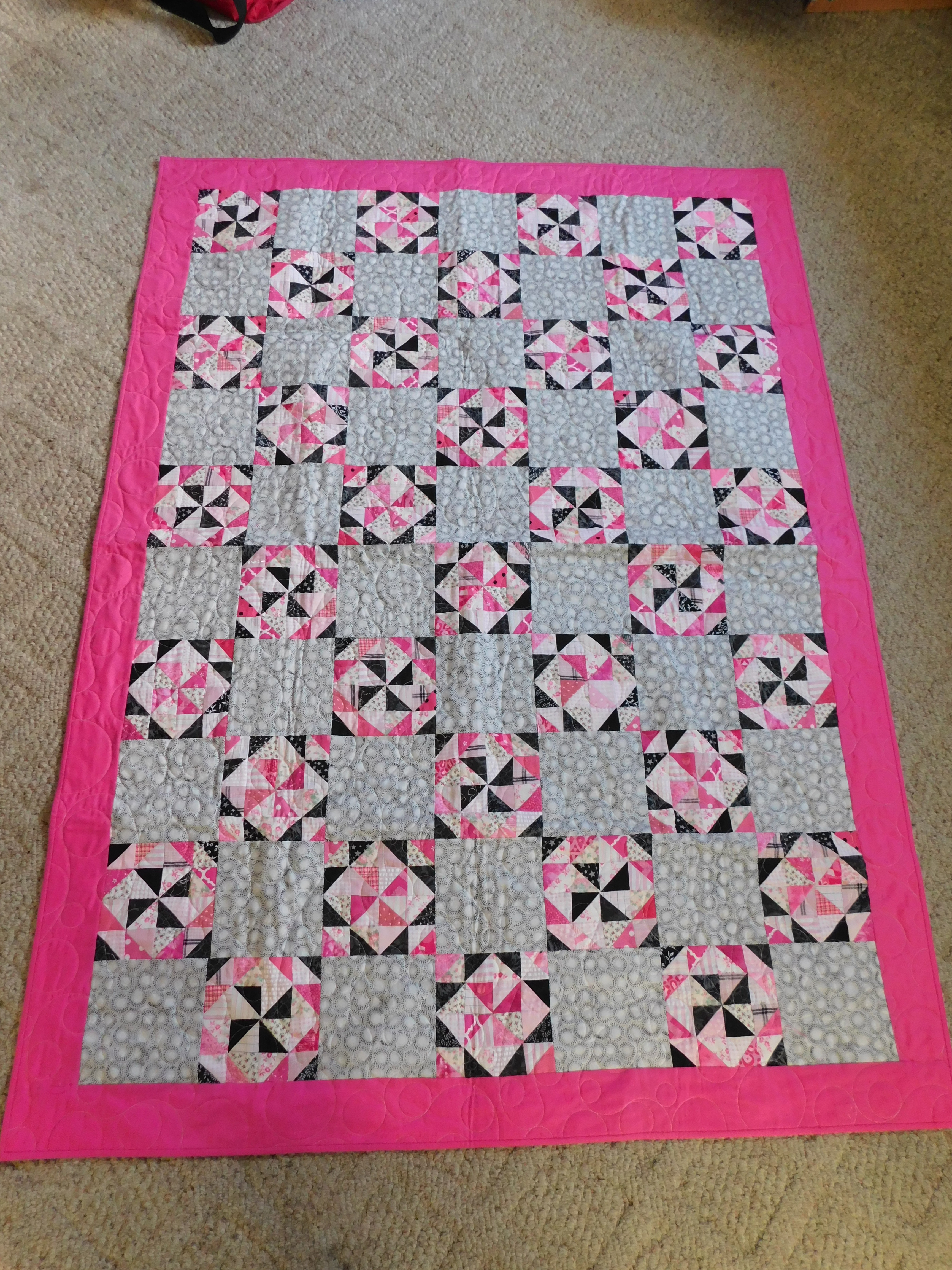 Babe's Pink Project Linus Quilt 2021