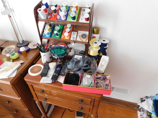 Sewing Cabinet Mess