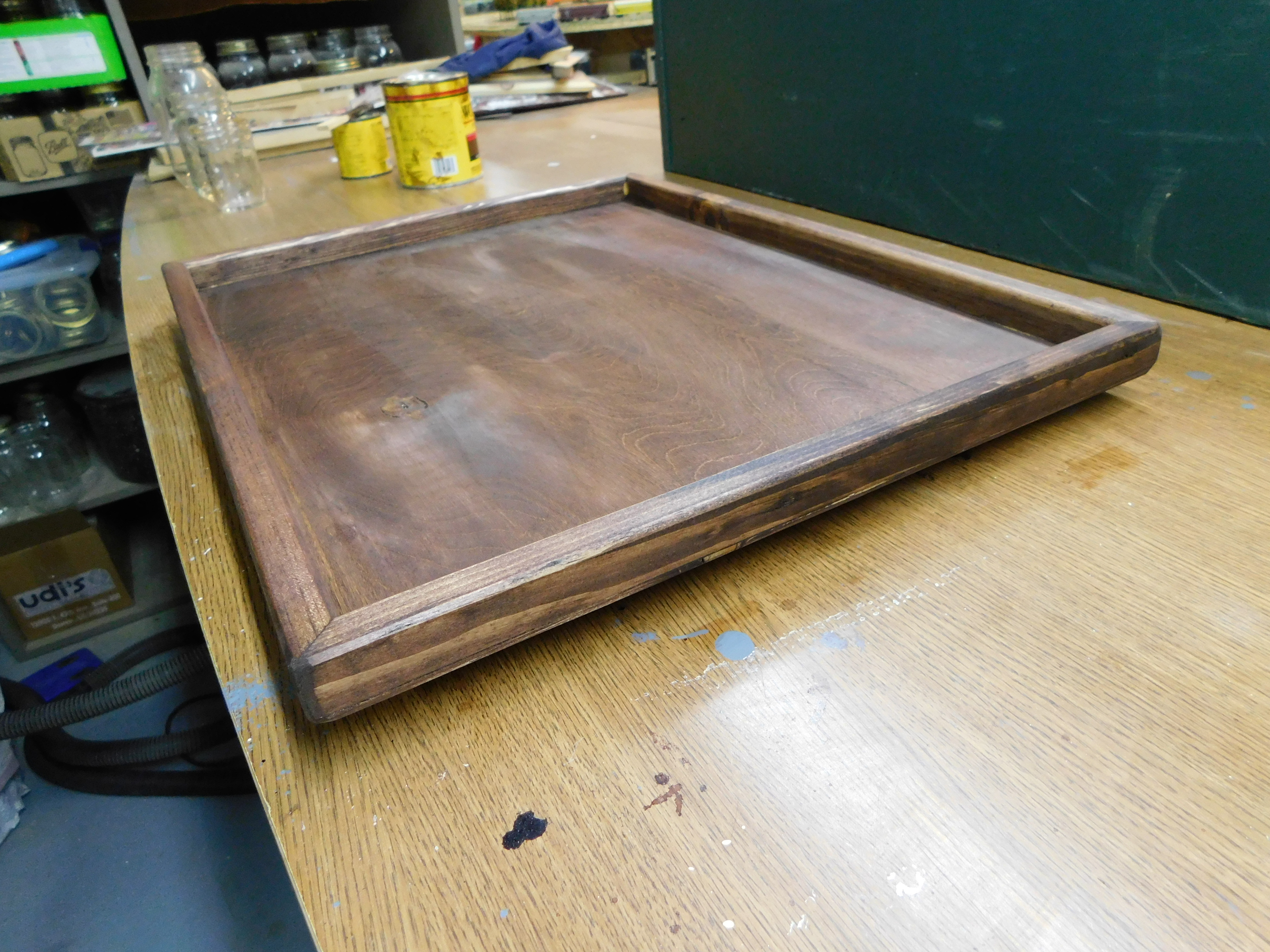 Sewing Tray Stained 4-18-21