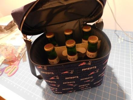 Patriots Beer Cooler Inside