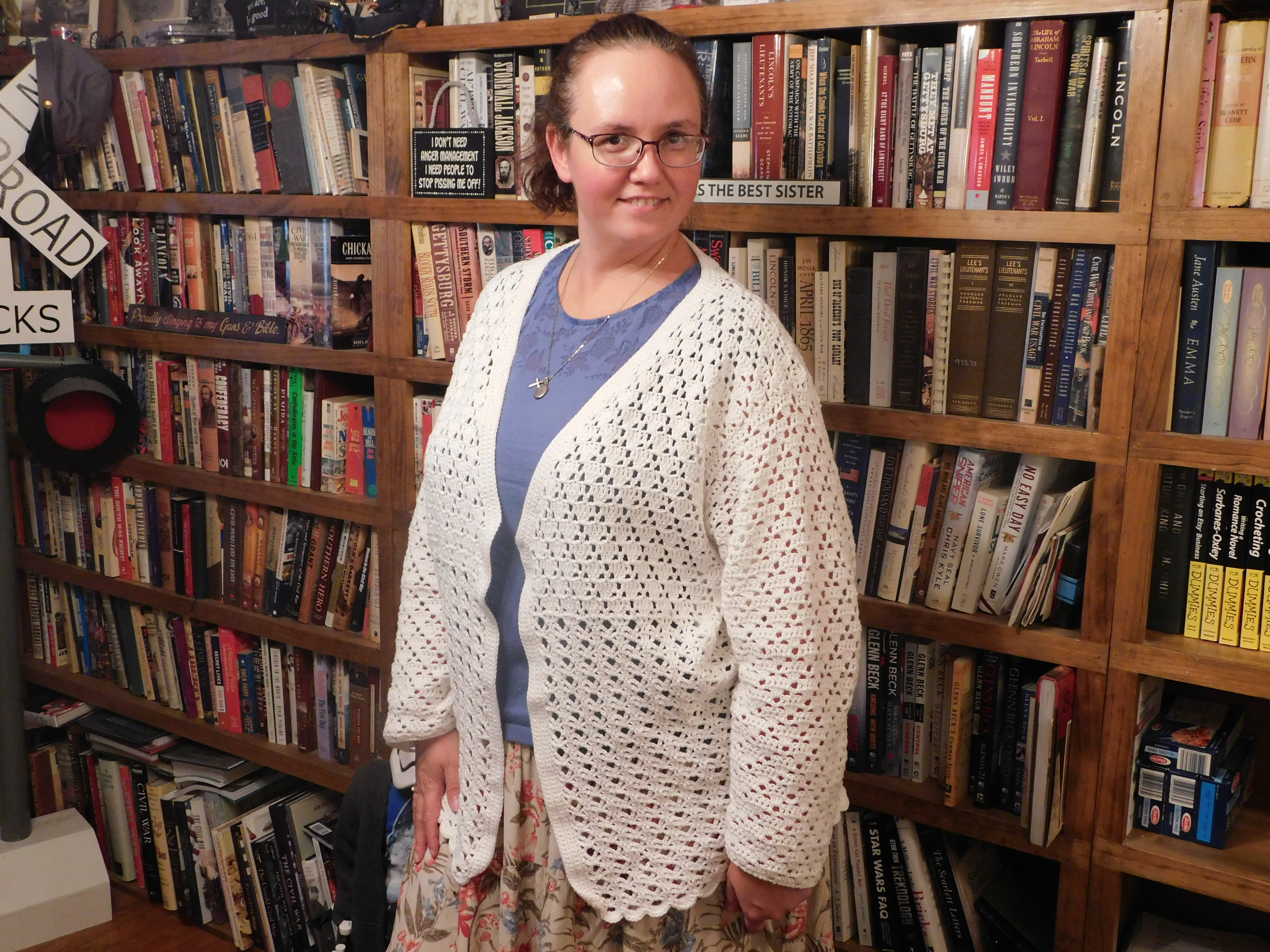 Two-Lace Cardi Front 2021